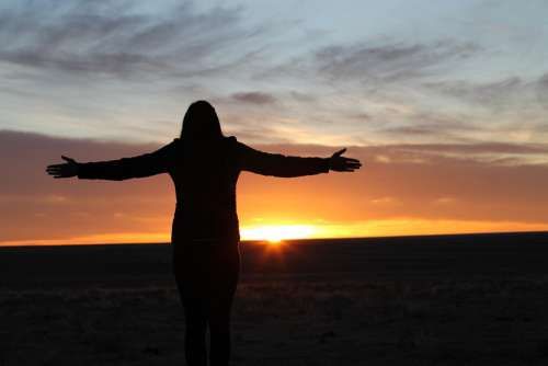 Mt Sunflower Kansas Highpoint Sunset