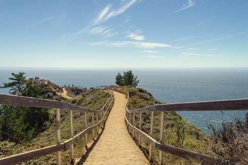 Muir Beach California Beach Landscape Shore