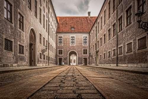 Munich Buildings Historic Cobblestone Architecture