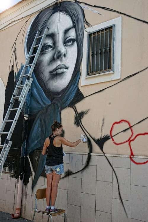 Murals Art Graffiti Spray Creativeness Color
