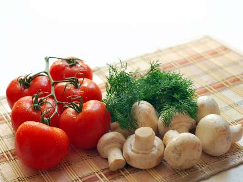 Mushrooms Tomatoes Greens Nutrition Tasty