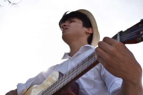 Musician Singer Music Singing Guitar Young Pop