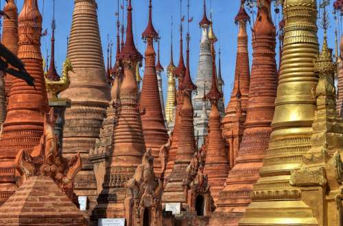 Myanmar Burma Asia Culture Travel Buddhism Pagoda