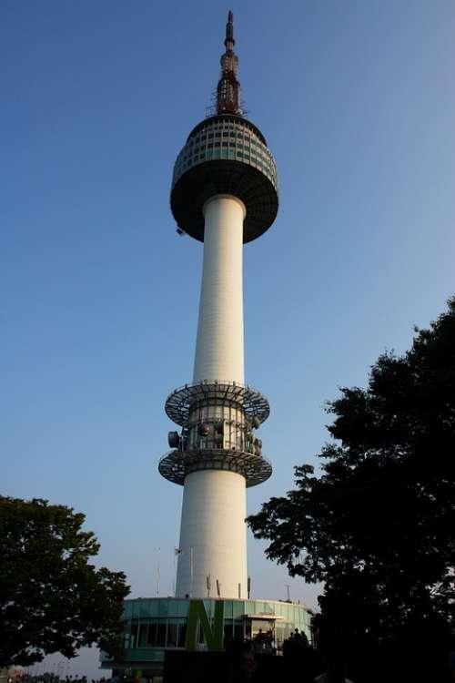 Namsan Tower Tower Republic Of Korea Korea N Tower