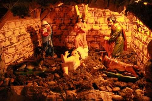 Nativity Church Scene Christmas Jesus