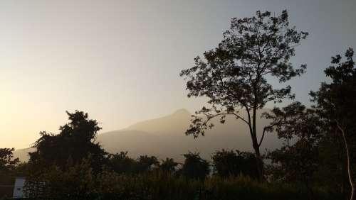Nature Mountain Sunrise Landscape