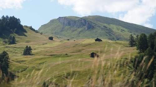 Nature Landscape Alpine Hill Idyllic Alpine Hut