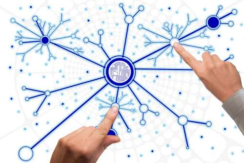 Network Social Abstract Finger Hand Touch