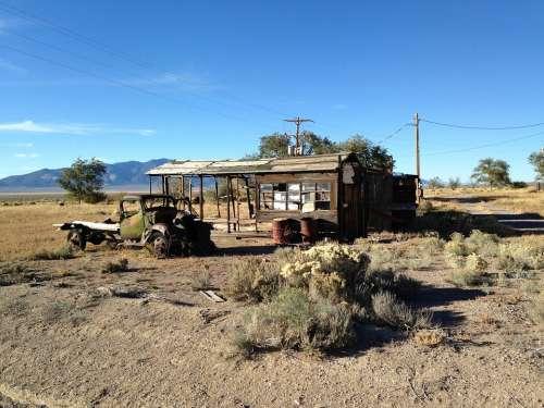 Nevada Abandoned Building Shack Shed Desert