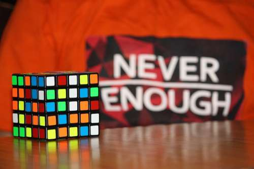 Never Enough Never Enough Challenge Rubiks Cube