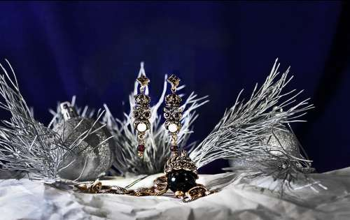 New Year'S Eve Winter Jewelry Earrings Bracelet