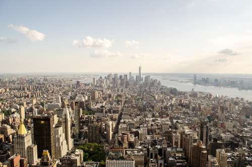 New York Aerial Architecture Buildings Capital