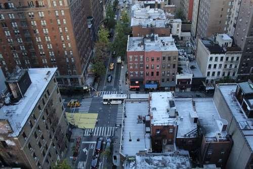 New York City Usa America Roofs Manhattan