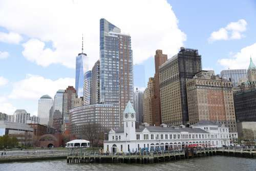 New York Manhattan Usa City Landmark
