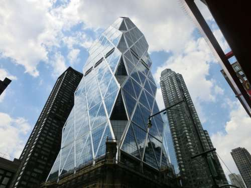 New York Skyscraper Glass Usa America
