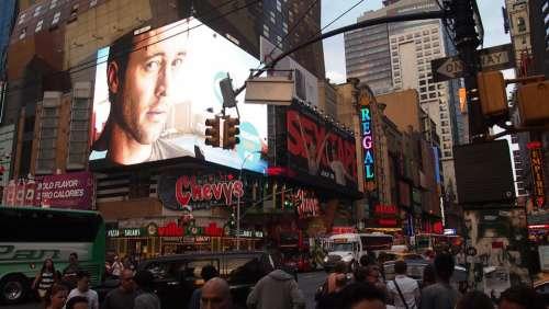 New York Manhattan Big Apple Time Square