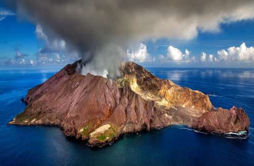 New Zealand Volcano Crater White Island Island