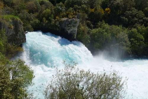 New Zealand Taupo Huka Falls Waikato River