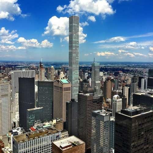 Newyork Usa Nyc Skyscrapers Skyline