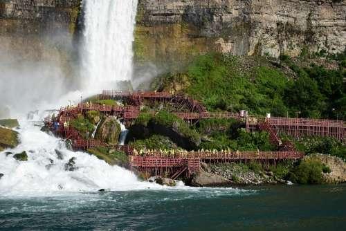 Niagara Falls Water Canada Nature Landscape