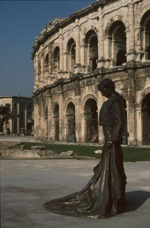 Nice Amphitheater Torero Statue