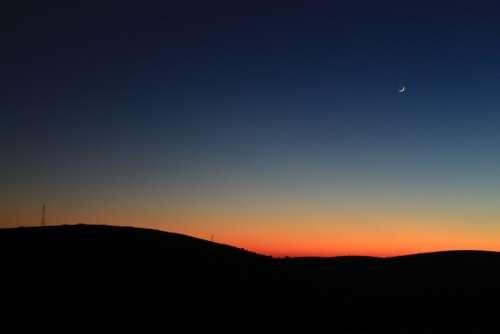 Night Dark Twilight Sky Sunset Panoramic Solar
