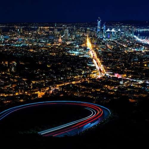 Night Light City Lights Dark Architecture