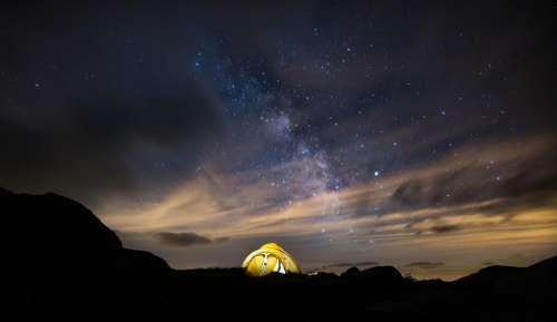 Night Stars Milkyway Space Star Scenic