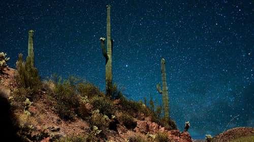 Night Sky Stars Park America Space Cosmos Galaxy