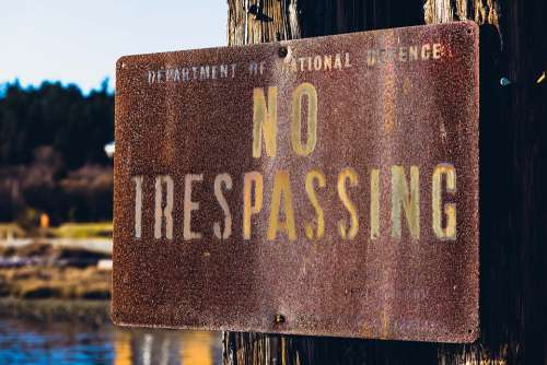 No Trespassing Sign Department Of National Defence