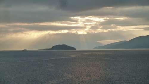 North Cape Norway Sea Sky Sunbeam
