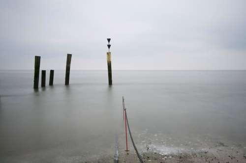 North Sea Watts Pier Wadden Sea Sea Water Rest