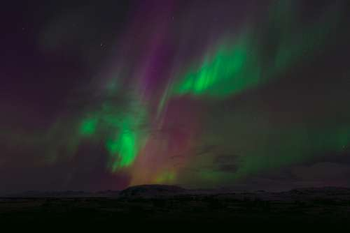 Northern Lights Aurora Borealis Northern Sky Night