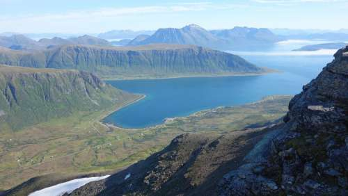 Norway Mountains Water Fish Nature Panorama