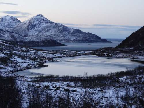 Norway Panorama Landscape Mountain Fjord Nature