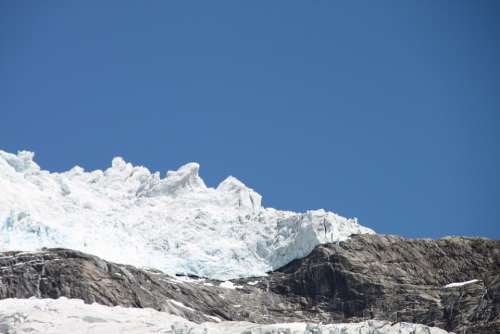 Norway Glacier Mountains Landscape Nature Sky