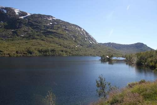 Norway Water Mountains Nature Scandinavia