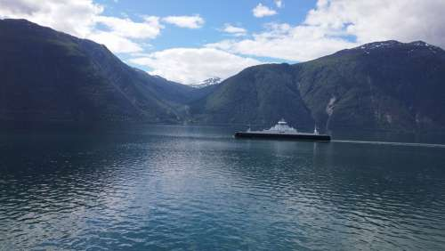 Norway Fjord Landscape Nature Water Mountains