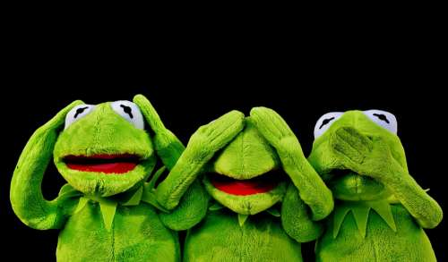 Not Hear Kermit Not See Do Not Speak Funny Frog