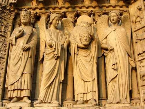 Notre Dame Paris Facade Notre Dame De Chartres