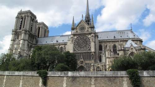 Notre Dame Paris France Church Cathedral Dame