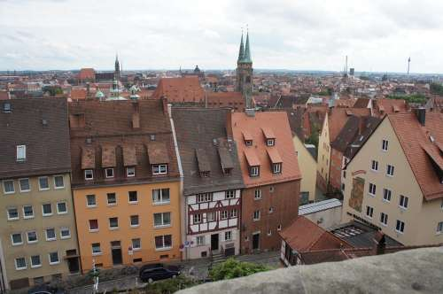 Nuremberg Cityscape Historic Center Houses