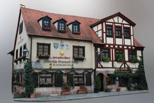 Nuremberg Historic Center Middle Ages Fachwerkhaus