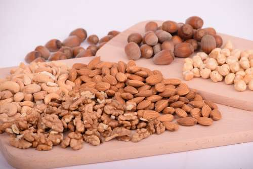 Nuts Almonds Seeds Food Batch Nutrition Diet