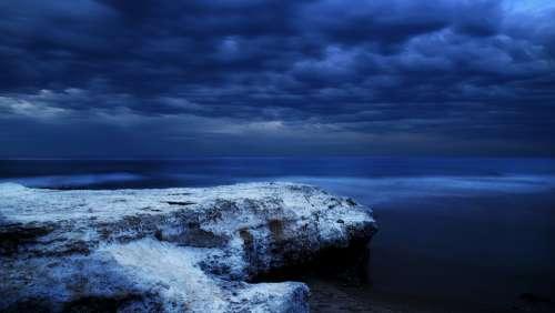 Ocean Sea Water Atmospheric Tranquil Twilight