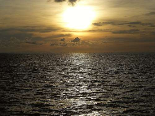 Ocean Sunset Thailand Evening Sky Mood