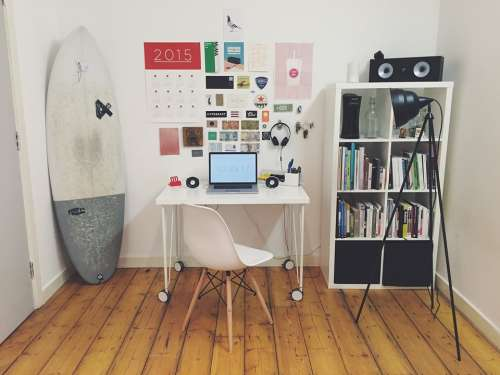 Office Space Surf Board Room Simple