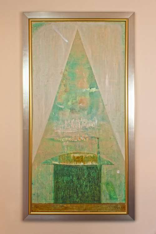Oil Painting Framed Shades Of Green Artists Wangden