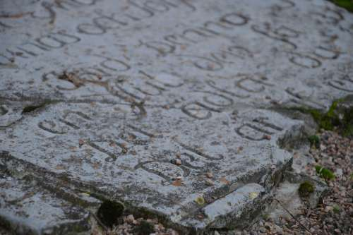 Old Headstone Stone Church Malmö Religion