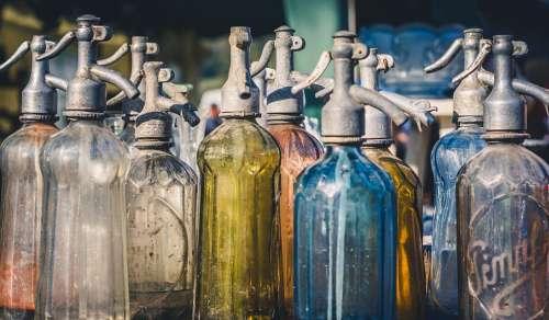 Old Bottles Glass Vintage Empty Dry Retro